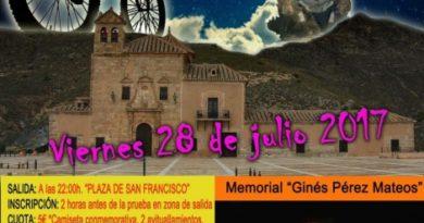 Albox celebrará el 28 de julio la 'XI Marcha Ciclista BTT Nocturna'