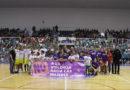 El ISE CB Almería llena el Pabellón Moisés Ruiz en su lucha contra la violencia de género