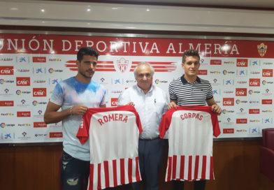 Presentación de los nuevos jugadores del UD Almería José Corpas y José Antonio Romera (video)