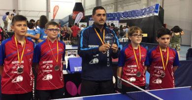 Dos podios roqueteros en el Campeonato de España de Tenis de Mesa
