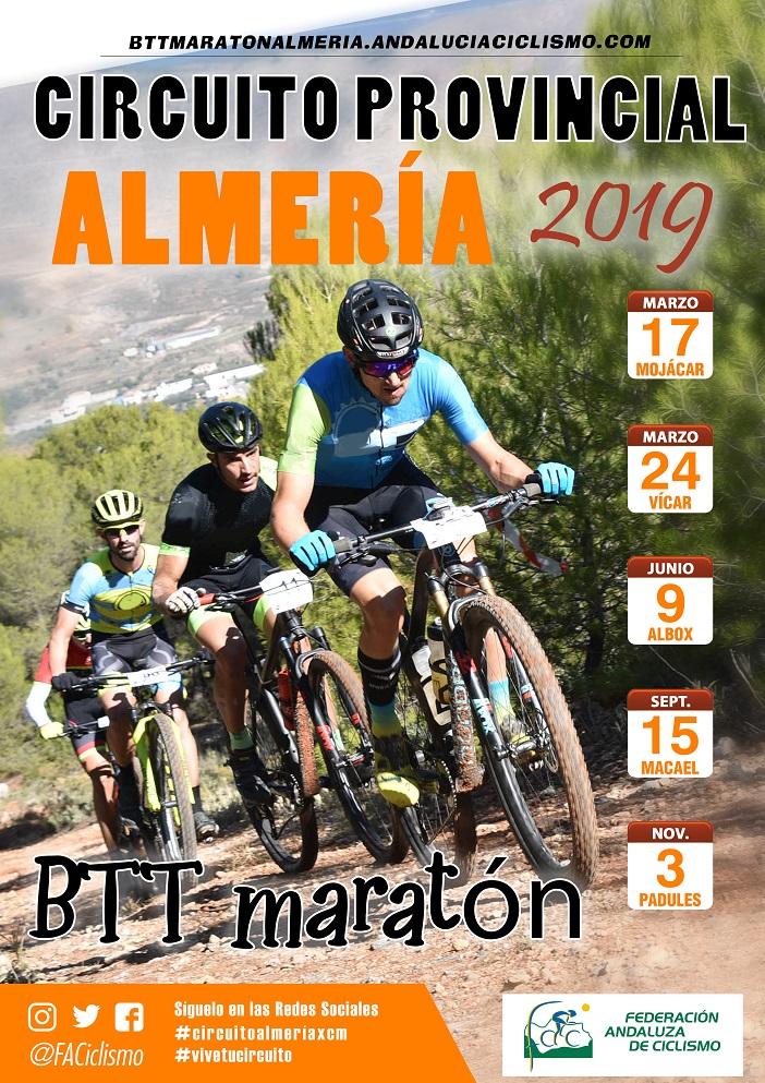 Andalucia Ciclismo Calendario.El Circuito Provincial Almeria Btt Maraton 2019 Conoce Su