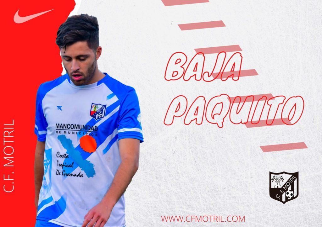 CF Motril salida Paquito
