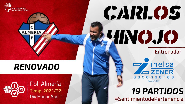 Poli Almería renovación Carlos Hinojo