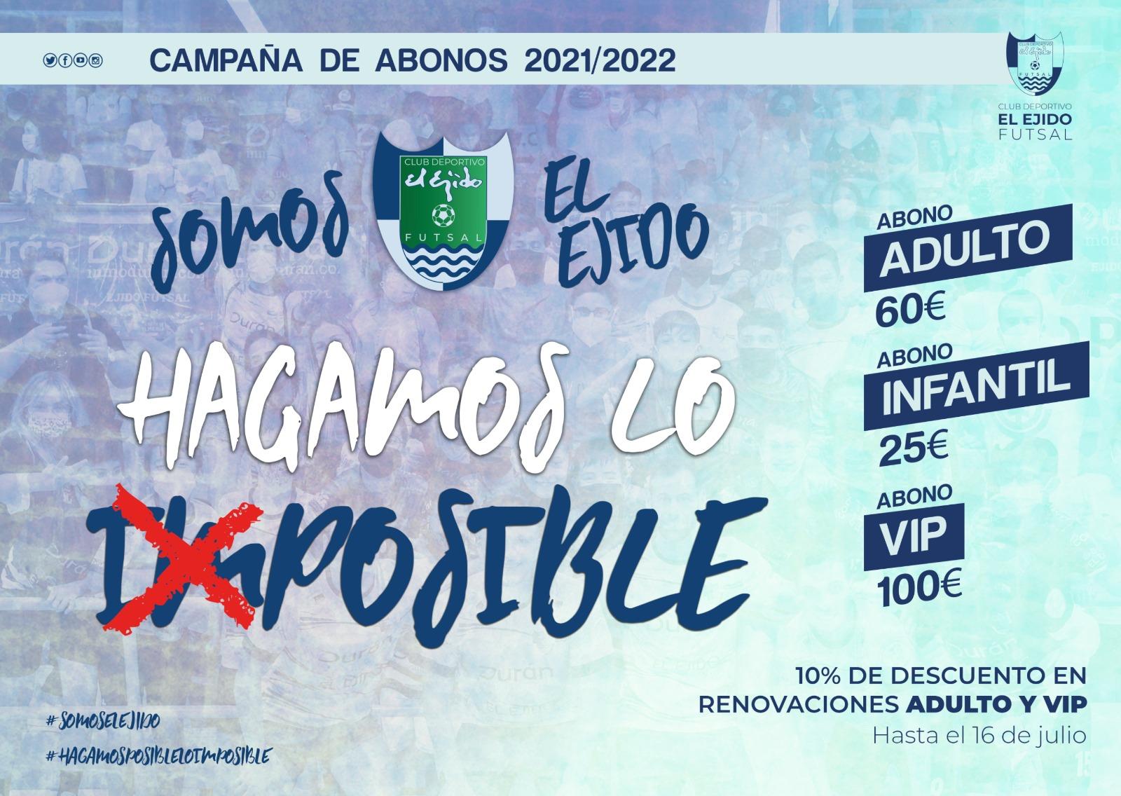 CD El Ejido Futsal Campaña de Abonos 2021