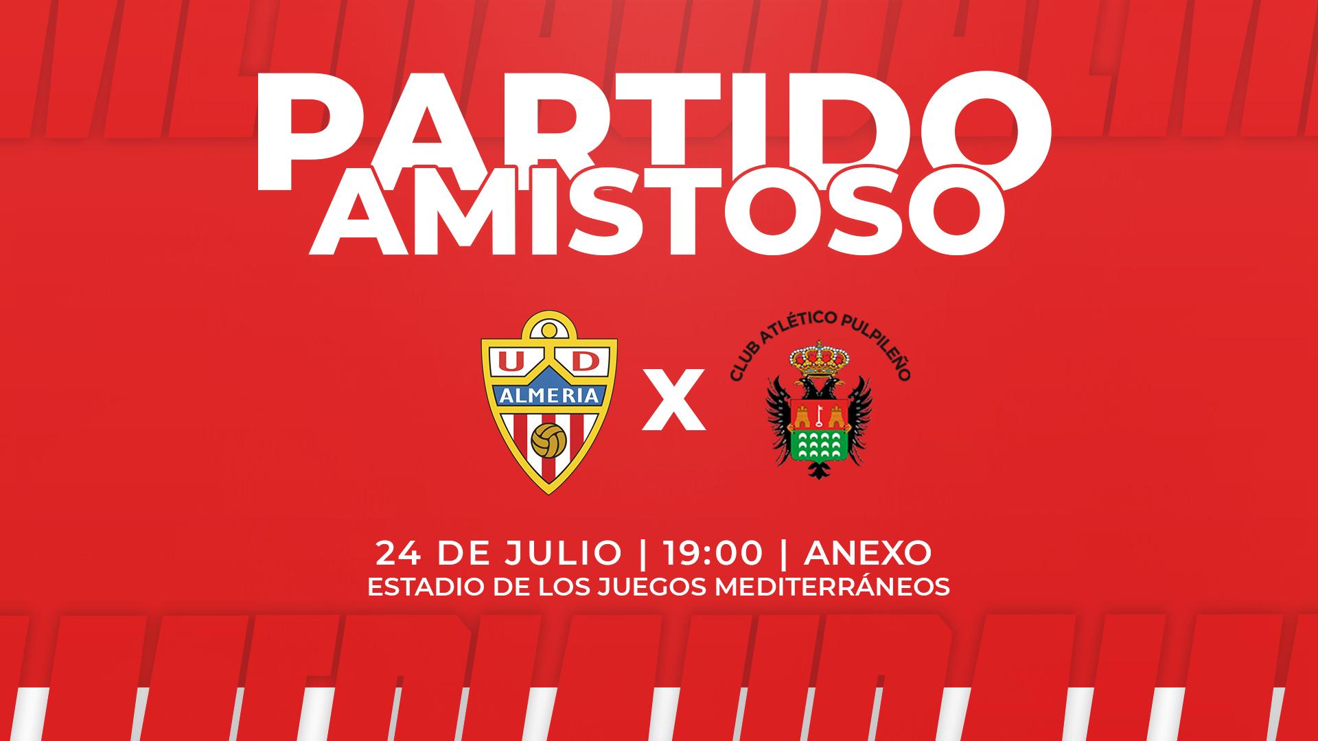 Cartel amistoso UDA vs Atlético Pulpileño