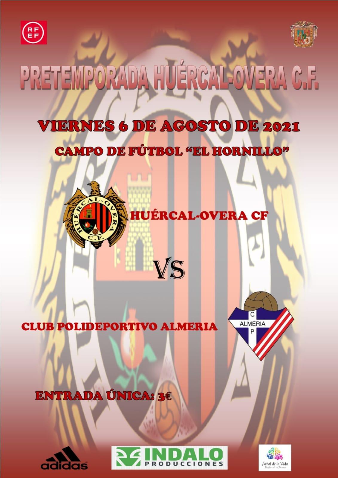 Cartel Huércal-Overa CF vs Poli Almería 2021