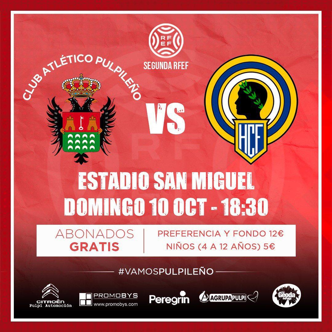 Cartel Atlético Pulpileño vs Hércules CF 10-10-21